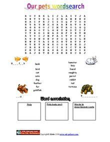 Free printable word games for dementia patients. Animals Pets word search exercise | Coloring Pages & Activities | Pinterest | Exercise, Words ...