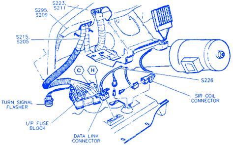 Buick Lesabre Under Dash Electrical Circuit Wiring