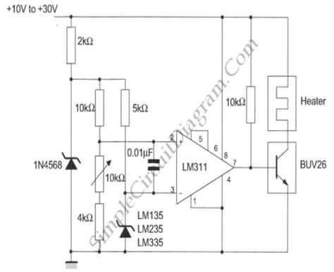 Simple Temperature Controller Circuit Diagram World