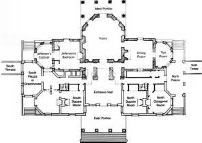 center colonial floor plan rooms and furnishings jefferson 39 s monticello
