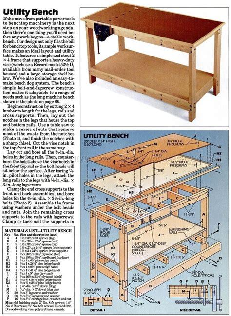 garage workbench plans woodarchivist