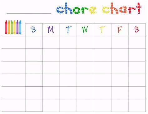Chore Chart Template Free Printable Chore Charts Template