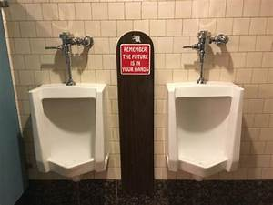 Funny bathroom sign picture of battista39s hole in the for Bathroom funny videos