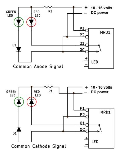 Simple Red Green Led Train Signal Circuit