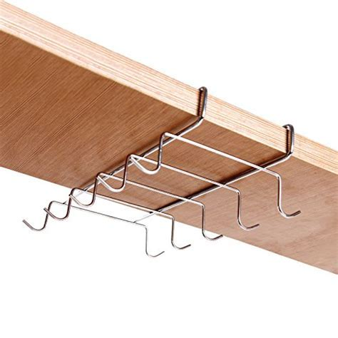 Under the Shelf 10 Hook Espresso Cup Storage Drying Rack