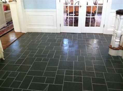 Indoor and all season slate floor renovations   Boston