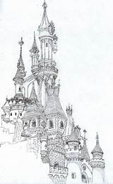Sketch Drawing Castle Castles Sketches Famous Architecture Illustration Drawings Coloring Adult Pages Architectural Books sketch template