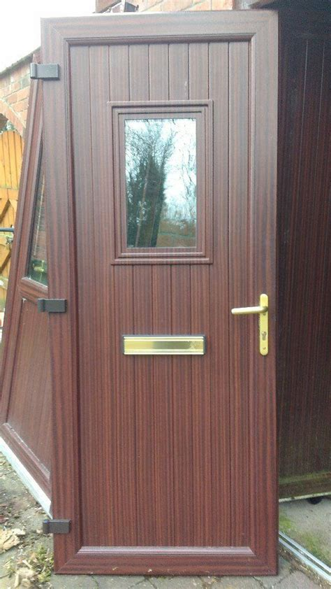 mahogany upvc door set front door  side light