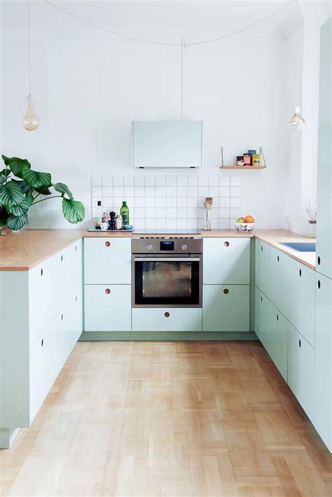 cuisine vert une cuisine ikea personnalisée en vert pastel