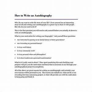 autobiography outline template 24 free word pdf With template for writing a biography