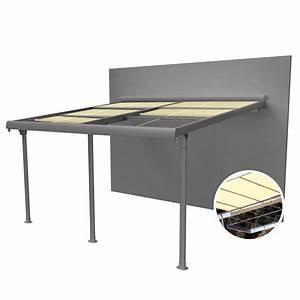 Tonnelle 4 X 3 : tonnelle adoss e aluminium stores enroulables 4x3 5 m ~ Edinachiropracticcenter.com Idées de Décoration