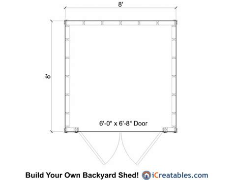 8x8 shed floor plans 8x8 lean to shed plans storage shed plans icreatables