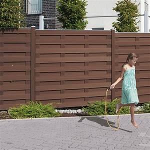 Sichtschutzzaun Aus Kunststoff : br gmann sichtschutzzaun jumbo wpc rechteck braun 179 x 179 cm ~ Watch28wear.com Haus und Dekorationen