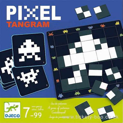 pixel tangram game  djeco