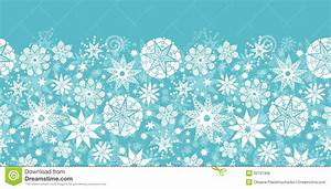 Decorative Snowflake Frost Horizontal Seamless Royalty ...