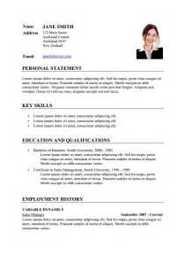 curriculum vitae resume exle sle cv resume template via format curriculumvitae