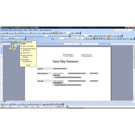 resume format for ms word microsoft word resume template