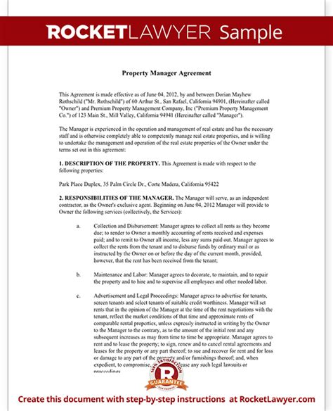 property management agreement template property management agreement form free template with sle
