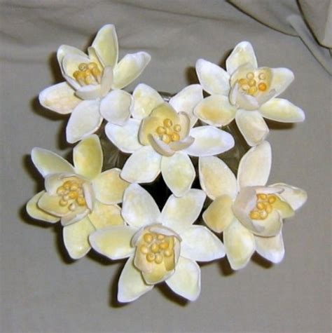how to make seashell flowers daffodil seashell crafts flowers ocean blooms now