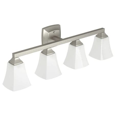 Moen Bathroom Light Fixtures by Moen Yb5164bn Brushed Nickel Voss 31 Quot Wide 4 Light