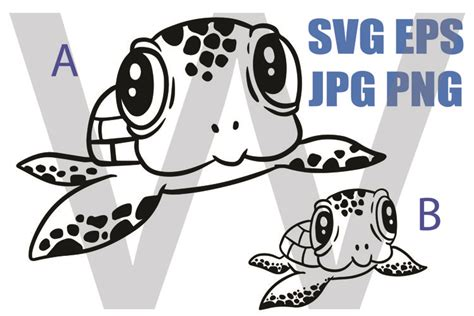Download in svg and use the icons in websites, adobe illustrator, sketch, coreldraw and all vector design apps. Cute Baby Sea Turtle - SVG EPS JPG PNG (809207 ...