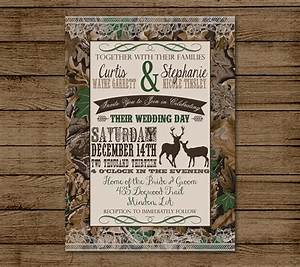customized wedding invitation camo deer camouflage by With free printable redneck wedding invitations