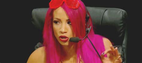 Sasha Banks Pink Hair
