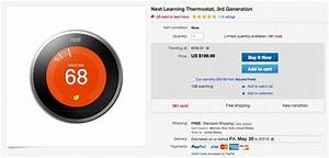 Deal  Nest Thermostat  3rd Gen  Is  199 Today At Ebay   50