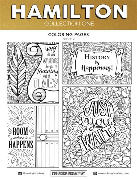 Polish your personal project or design with these musical theatre transparent png images, make it even more personalized and more attractive. Hamilton SET 1 Broadway Coloring Card Musical Theater   Etsy in 2020   Coloring pages, Color ...