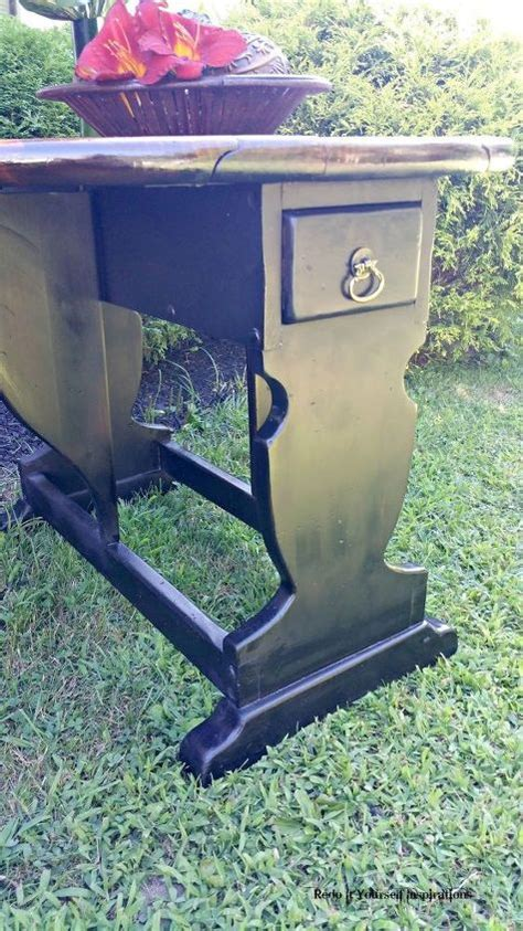 upcycle  vintage drop leaf table hometalk