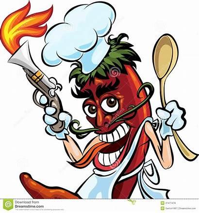 Pepper Illustration Cook Chili Fire Humorous Jalapeno