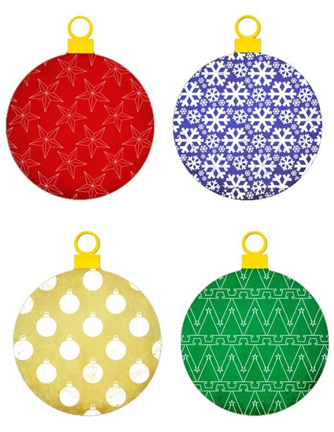 7 best images of printable christmas tree ornaments free