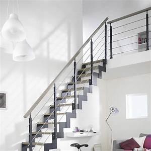 rampe d39escalier et escalier bois alu quart tournant With escalier metallique exterieur leroy merlin 1 rambarde pour escalier escavario escapi leroy merlin