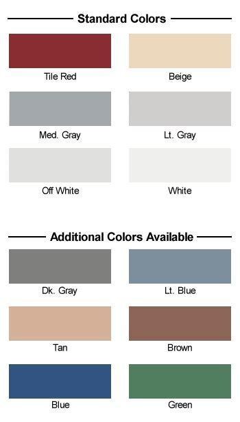 Epoxy Floor Coating Color Charts   Concrete Resurfacing