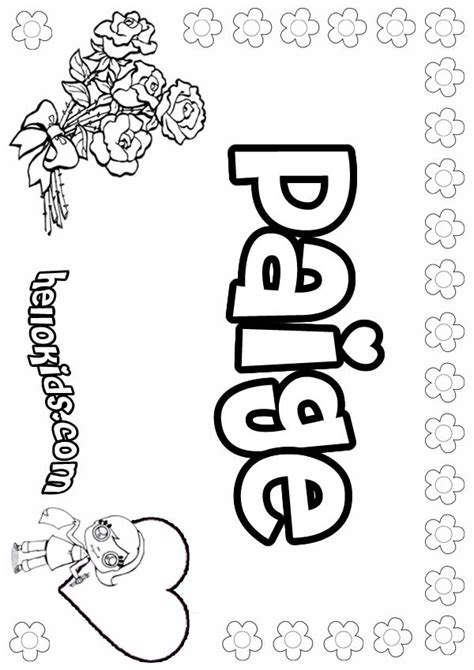 paige coloring pages hellokidscom