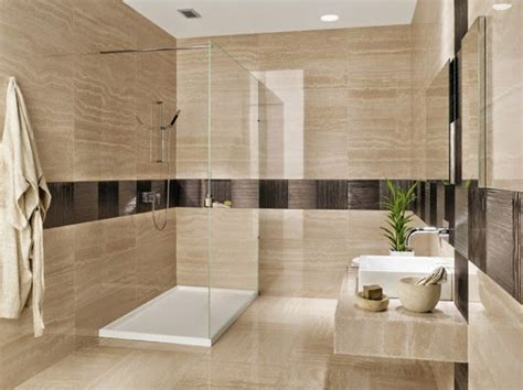 Modern Bathroom Tile Colors by Modern Bathroom Tiles In Neutral Colors Bathroom Design