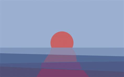 Minimalistic Sunset Wallpaper  658 2880x1800