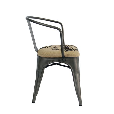 tolix stool replica tolix chair in gunmetal with coffee bag cushion