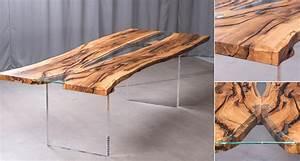 Holztisch Mit Metallgestell : esstisch und couchtisch aus spessartholz ~ Lateststills.com Haus und Dekorationen