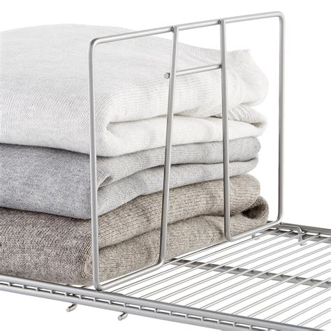 wire shelf dividers platinum elfa ventilated wire shelf dividers the