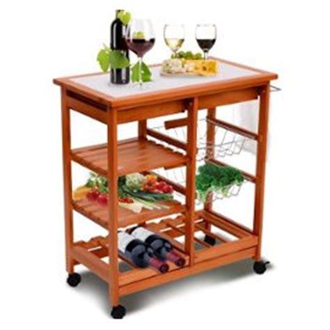 chariot de cuisine en bois meuble rangement cuisine chariot de service desserte a