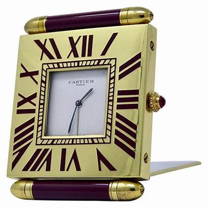 Cartier Desk Clock Travel Mystery Alarm Clocks