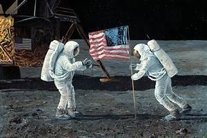 Apollo 11 Moon Landing, 1969, Artwork Photograph by ...