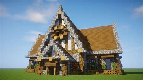 Minecraft Big Medieval House Drone Fest