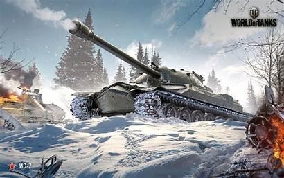 Tanks Winter Russia Battle Volley Screen 1080p