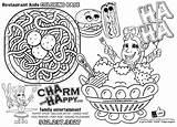 Coloring Restaurant Menu Magnet Drawing Pages Printable Template Sketch Getcolorings Getdrawings sketch template