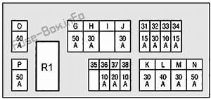 Fuse Box Diagram Infiniti Fx35    Fx50    Qx70  S51  2008
