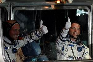Taking off: NASA astronauts launch to space station