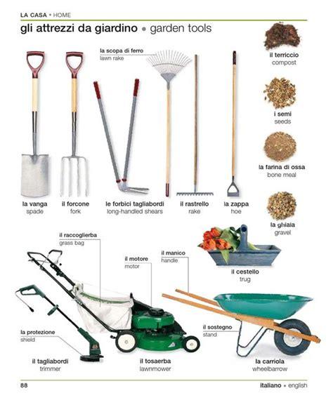 tools used for gardening learning italian italian and italian garden on pinterest