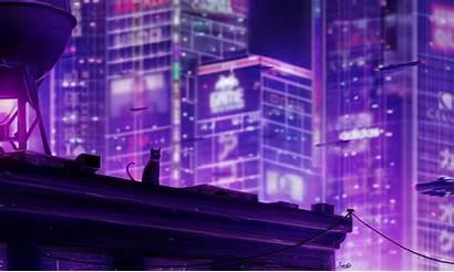 Tokyo Neo Cat Wallpapers Future 5k Neon